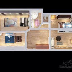 Príjemný 4 izbový byt v 8 poschodovom bytovom dome,  BA V-Petržalka,