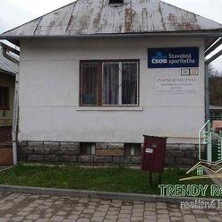 Stavebný pozemok, ulica Slovenská, Hanušovce nad Topľou, okres Vranov