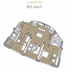 Vzdušný 3 izbový byt 404.C v lukratívnej lokalite