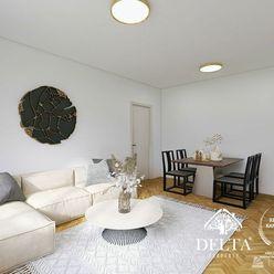 DELTA | REZERVOVANÝ 3 izbový byt v pôvodnom stave, Jadrová ul., Ružinov, 84 m2