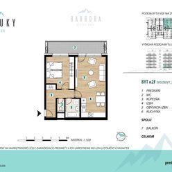 2 izbový byt s priamym výhľadom na TATRY - MERŤUKY (M2F)