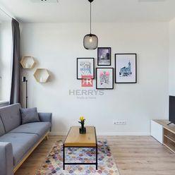 HERRYS, Prenájom moderného a nového 1 izbového bytu v novostavbe Bezručová Residence pri Modrom Kost
