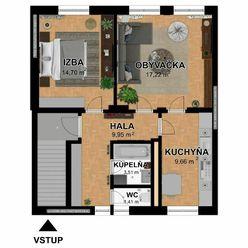 Na predaj 2 izbový byt v rodinnom dome, Šafárikova ulica, Senec