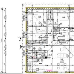 Novostavba - 4 izbový bungalov, pozemok 8á