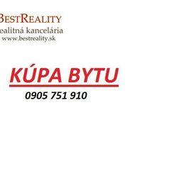 Hľadáme na Kúpu 3 izbový  byt vo Vrakuni Pre KONKRÉTNEHO Klienta www.bestreality.sk