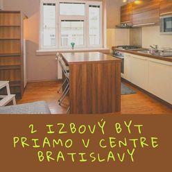 Zrekonštruovaný praktický 2 izbový byt v centre Bratislavy