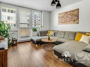 REZERVOVANÉ DELTA   kompletne zariadený veľký 2 izbový byt s veľkou terasou a balkónom v obľúbenom R