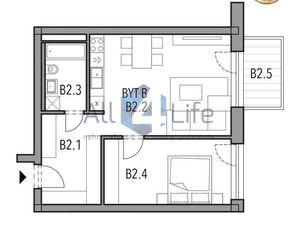 Mojmírka Piešťany - Bývajte s radosťou - byt B.2.B
