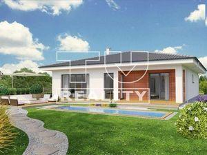 Predané! Výborná lokalita! Novostavba! 4 izbový bungalov O135, 630m2, garáž, Južná brána, Senec.