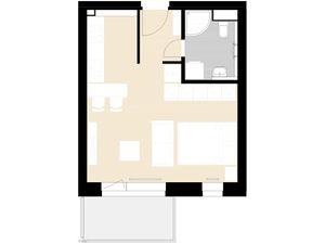 NOVOSTAVBA - KASÁRNE BREZNO - 1-izbový byt E1.3
