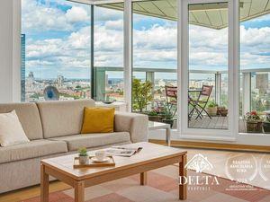 DELTA   PANORAMA CITY: 3 izbový byt na 17. poschodí, Staré Mesto, 92 m2