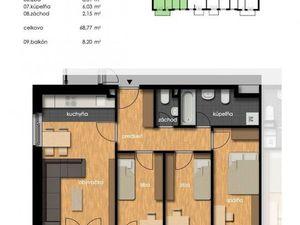Predaj 4-izbový byt sbalkonom, novostavba