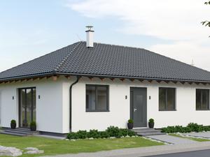 Novostavba moderného, nízkoenergetického rodinného domu - Bungalov 1 v projekte pod Striebornico