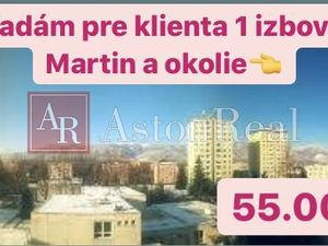 Hľadáme pre klienta 1- izbový byt v Martine