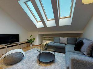 Moderný podkrovný 3-izbový byt s terasou a krásnym výhľadom v Starom Meste