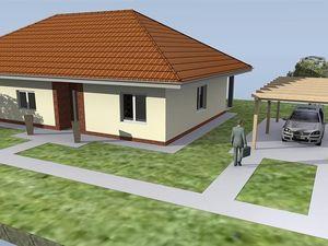 Novostavba 4 izb. bungalovu s terasou, s pozemkom 899 m2 v Horných Ozorovciach