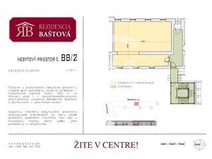 nebytový priestor na prízemí č. B 8/2 v centre, 112 m2, v/z