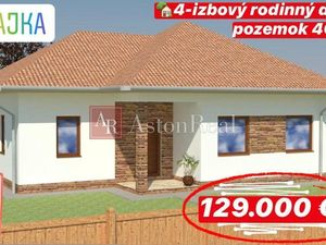 RAJKA 4 - izbový rodinný dom 100 m2 s pozemkom 407 m2
