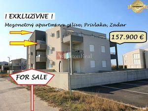 Mezonetový 3+kk appt, 2.p., 2 terasy, 1.rad od mora, Zadar, Chorvátsko