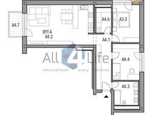 Mojmírka Piešťany - Bývajte s radosťou - byt A.4.A