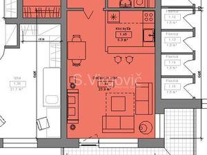 Predaj 1.izb. bytu v novostavbe s balkónom na Muškátovej ul. v Pezinku