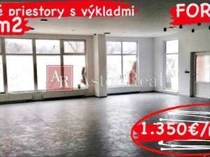 Obchodné priestory s výkladmi 138 m2 Ban. Bystrica-Sásová BEZBARIÉROVÝ