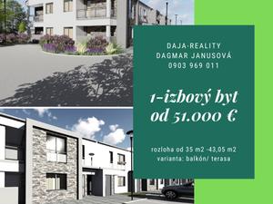 GALANTA - predaj 1,2,3 4-izbových bytov v novej lokalite