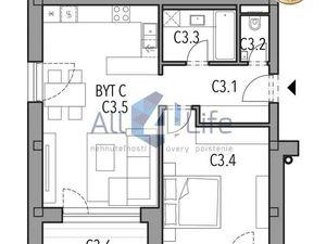 Mojmírka Piešťany - Bývajte s radosťou - byt A.3.C