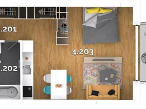 1i byty v ŠTANDARDE s klimatizáciou, vonkajšími žalúziami a s balkónom, priamo od DEVELOPERA