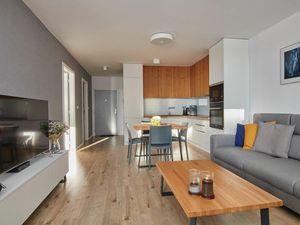 /NOVOSTAVBA/ 2 izbový byt zariadený v modernom štýle vo vyhľadávanej lokalite, Garážové státie, Arbo