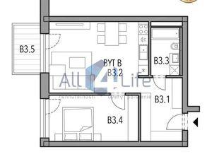 Mojmírka Piešťany - Bývajte s radosťou - byt A.3.B