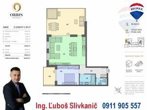 Predaj 2-izbový byt s veľkou terasou a jacuzzi vírivkou v centre mesta Nitra v ORBIS Premium.