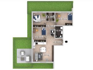4i byt v ŠTANDARDE s klimatizáciou, predzáhradkou alebo terasou, priamo od developer