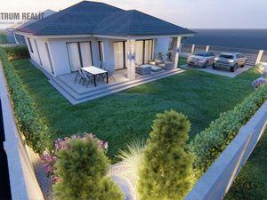 REZERVOVANÝ: Krásny 4-izbový bungalov s mimoriadne priestrannou dennou časťou a krytou terasou, Lehn