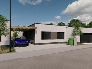 ** Moderný rodinný dom s veľkou garážou **