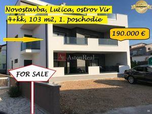 4+kk apartmán, 103m2, 1. posch., novostavba, Lučica, Vir, Chorvátsko