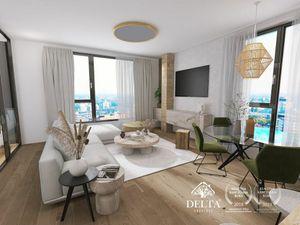 DELTA   DANUBIUS ONE – 4kk byt s panoramatickým výhľadom, 135 m2
