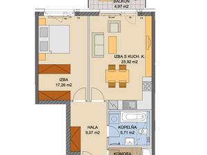NAJREAL |  NOVOSTAVBA - JÉGEHO ALEJ V, 2 - izbový byt s balkónom, a garážovym státim, BA II.