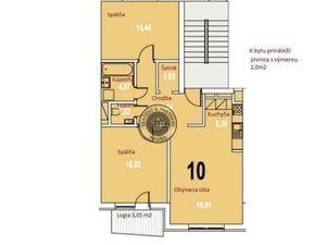 3 izbový byt v novostavbe -Tulipán