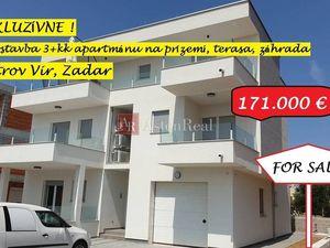 3-izb. apartmán, 75,66m2, prízemie, centrum, Vir, Zadar, Chorvátsko