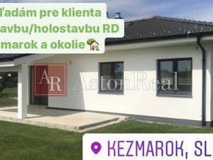 Hľadám pre klienta holostavbu/novostavbu RD s pozemkom  v Kežmarku