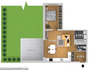 2i byt v ŠTANDARDE s klimatizáciou, predzáhradka/terasa/balkón, priamo od developera