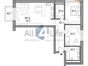 Mojmírka Piešťany - Bývajte s radosťou - byt A.2.A