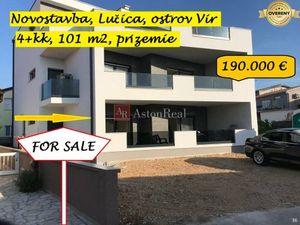 4+kk apartmán, 101m2, prízemie, novostavba, Lučica, Vir, Chorvátsko