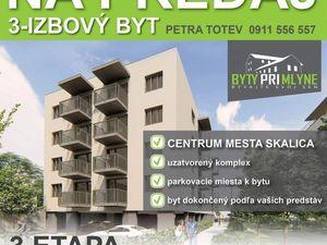 PREDAJ - Luxusný 3-izb. byt v novostavbe v Skalici
