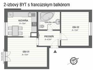 Exkluzívne v NOE Reality  2-izbový byt s parkovacím miestom - REZERVOVANÝ