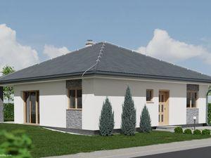 Novostavba nízkoenergetického rodinného domu Bungalov 4 - v projekte Pod Striebornicou