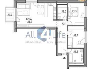 Mojmírka Piešťany - Bývajte s radosťou - byt A.3.A