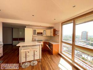 Prenájom 2 izbová zariadená  novostavba s recepciou a strážnou službou, 65 m2 + balkón, Ružinov ulic