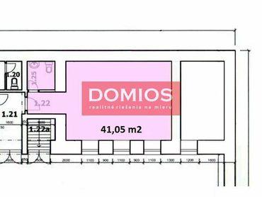 Prenájom obchod. priestorov (41,05 m2, príz., 2 miestn., WC, parking)